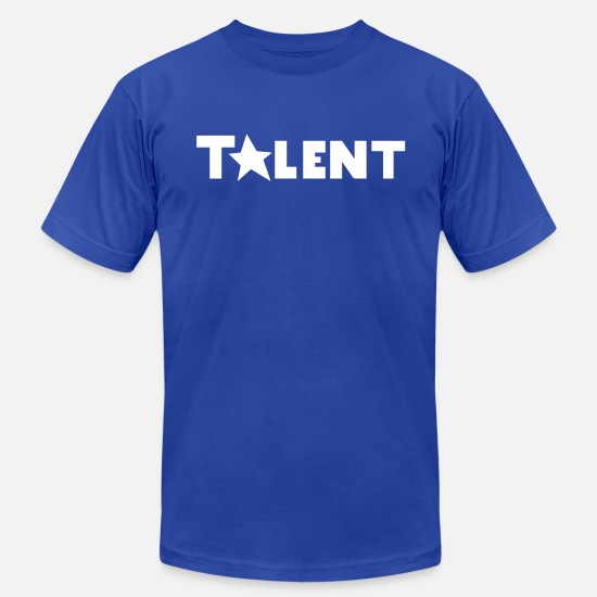 Actor T-Shirts - talent with a STAR - Men's Jersey T-Shirt royal blue