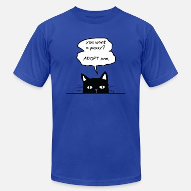 Cat Adoption ADOPT CATS - Men's  Jersey T-Shirt