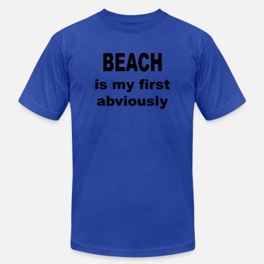 My First Party Beach is my first Abviously - Men's Fine Jersey T-Shirt