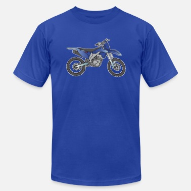 Racing Machine Motocross motorcycle (blue ) - Unisex Jersey T-Shirt