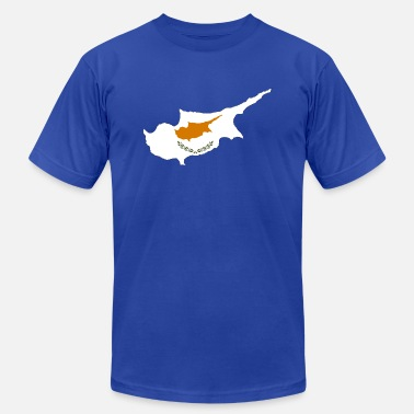 Cyprus Cyprus Map Flag - Unisex Jersey T-Shirt