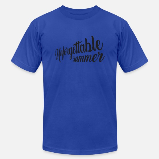 Birthday T-Shirts - Unforgettable Summer - Men's Jersey T-Shirt royal blue