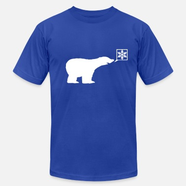 Winter Polar bear, calls for ice, snow flake Global Warming - Men's Jersey T-Shirt