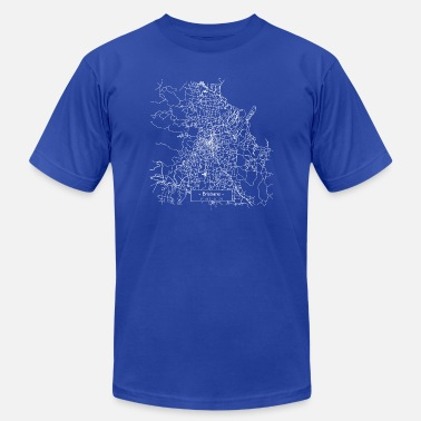 Brisbane Brisbane City Street Map - white - Unisex Jersey T-Shirt