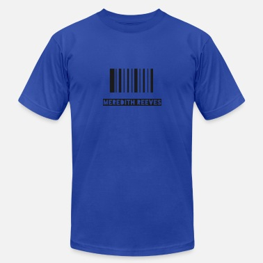Reeves Barcode By Meredith reeves - Men's Fine Jersey T-Shirt