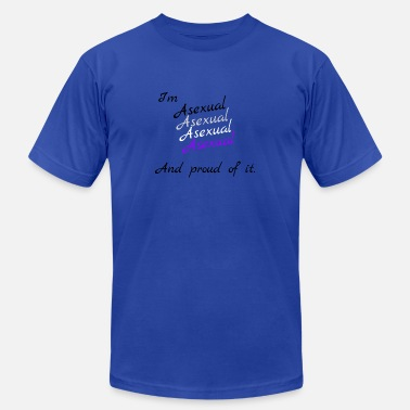 Asexuals Proud asexual - Men's Jersey T-Shirt