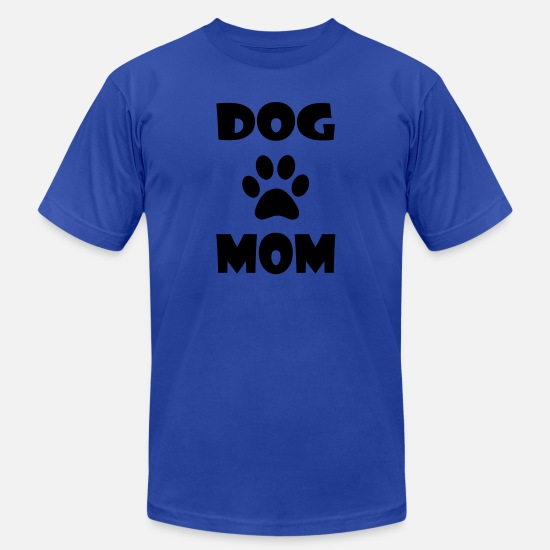 Dog Paw T-Shirts - DOG MOM WITH PAW PRINT - Men's Jersey T-Shirt royal blue