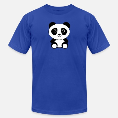 Panda Cartoon Cute Cartoon Panda - Men's  Jersey T-Shirt