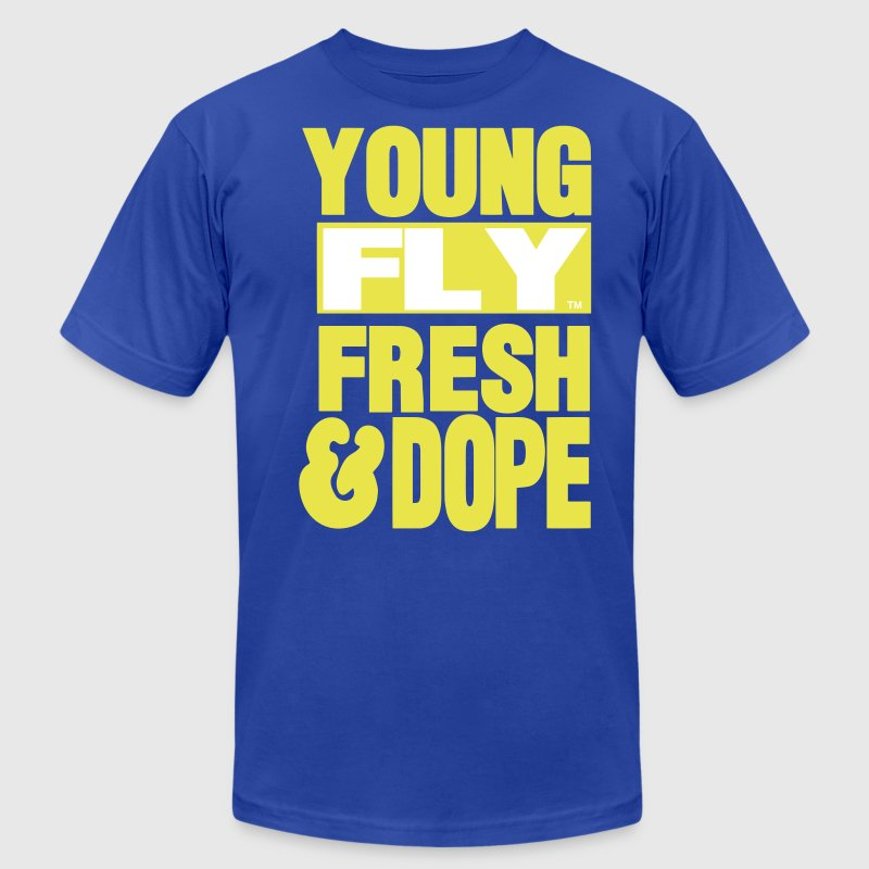 YOUNG FLY FRESH & DOPE - Men's Fine Jersey T-Shirt