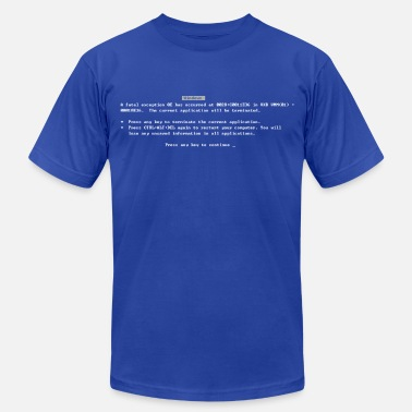Screen Classic Blue Screen of Death BSOD - Men's  Jersey T-Shirt