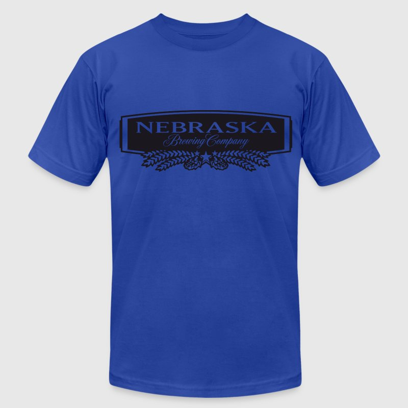 Nebraska Brewing Company B&W Logo  - Men's Fine Jersey T-Shirt