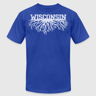 Classic Style Wisconsin Home Roots Rooted Clothing - Men's Fine Jersey T-Shirt