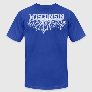 Wisconsin Clothing Classic Style Wisconsin Home Roots Rooted Clothing - Men's Fine Jersey T-Shirt