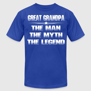 GREAT GRANDPA THE MAN THE MYTH THE LEGEND - Men's Fine Jersey T-Shirt