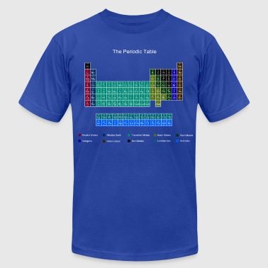 Theory Blue Stylish Periodic Table of Elements - Men's Fine Jersey T-Shirt