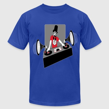 DJ Abe Lincoln - Men's Fine Jersey T-Shirt