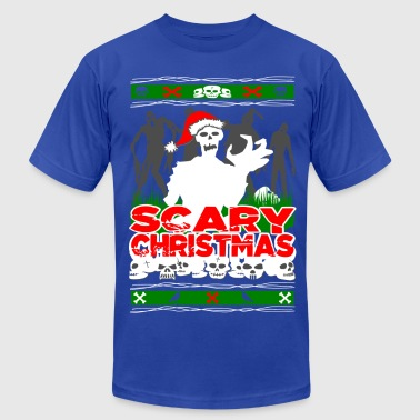Christmas Zombie Scary Christmas Zombies - Men's Fine Jersey T-Shirt