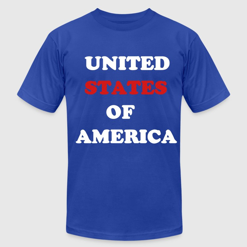 USA United States of America Statement Sports Fun  - Men's Fine Jersey T-Shirt