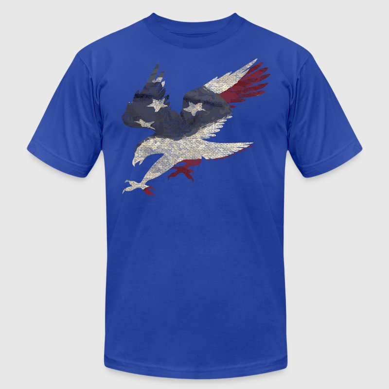 Old Glory American Flag Eagle Clothing Apparel USA - Men's Fine Jersey T-Shirt