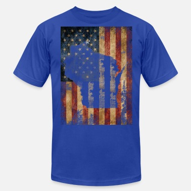 Wisconsin Clothing Wisconsin USA Flag Milwaukee Mart Clothing Apparel - Men's  Jersey T-Shirt