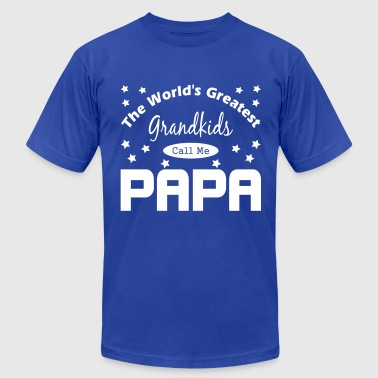 Dad The Man The Mustache The Legend Grandkids Call Me Papa - Men's Fine Jersey T-Shirt