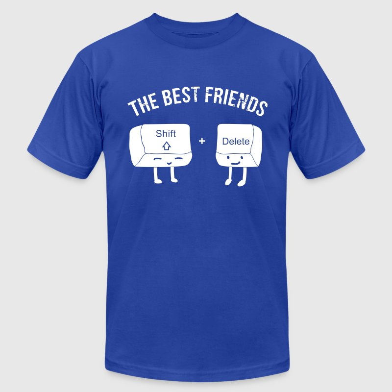 Computer Keyboard Best Friends - Men's Fine Jersey T-Shirt