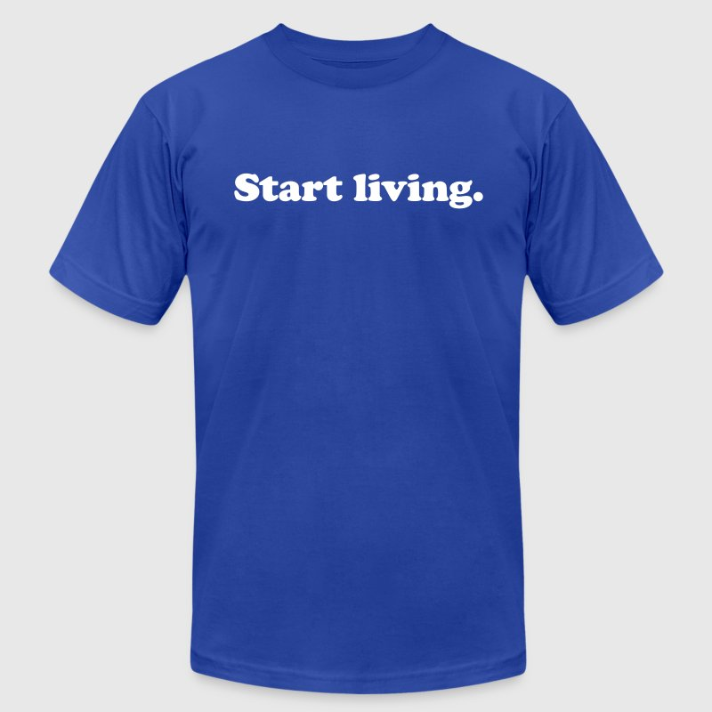 start living - Men's Fine Jersey T-Shirt