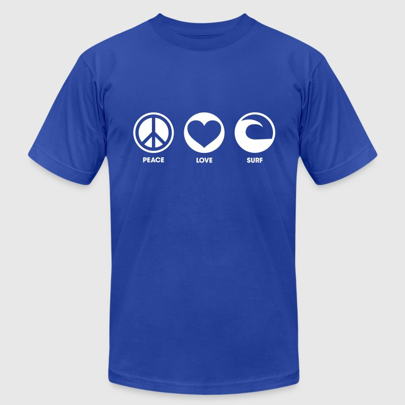 Peace Love Surf - Men's Fine Jersey T-Shirt