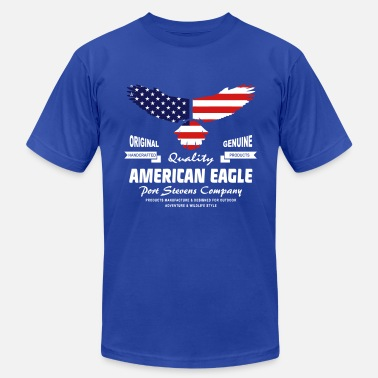 Eagles American Eagle - USA Flag - Men's Fine Jersey T-Shirt