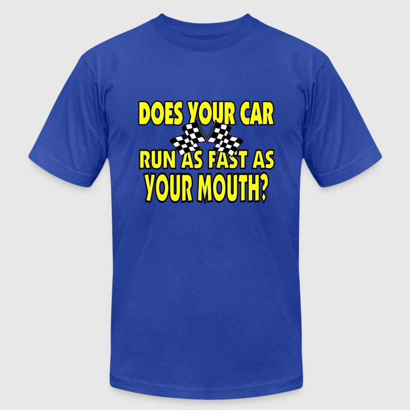 Funny Racing Saying - Men's Fine Jersey T-Shirt