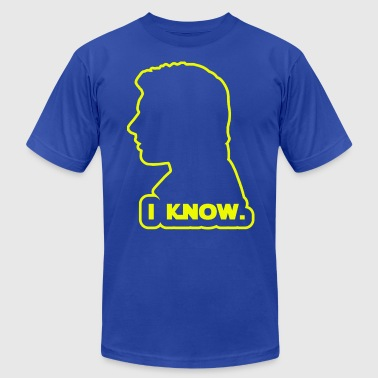 Han Solo Princess Leia Han Solo - I Know. Design - Men's Fine Jersey T-Shirt