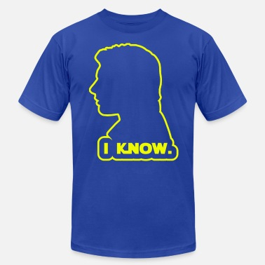 Wars Han Solo - I Know. Design - Men's  Jersey T-Shirt