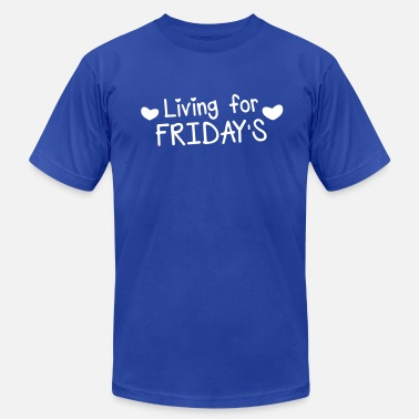 Heart Live living for fridays with love hearts - Men's  Jersey T-Shirt