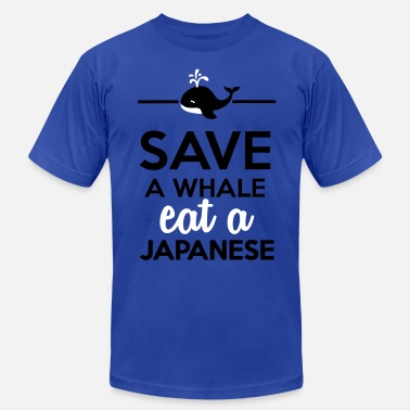 Greenpeace Save The Whales Dining - Save a whale eat a Japanese - Men's  Jersey T-Shirt