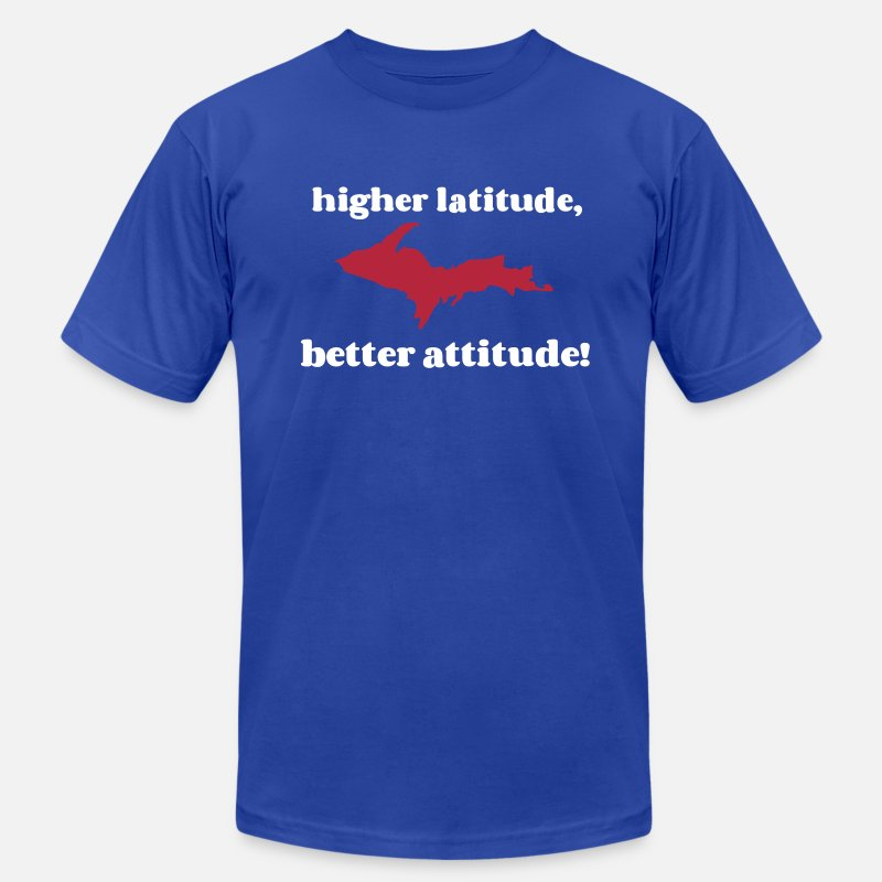 Upper T-Shirts - Higher latitude, better attitude! - Men's Jersey T-Shirt royal blue