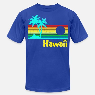 064f27458 Vintage Hawaii 1980s Vintage Retro Hawaii - Men's Jersey T-Shirt. Men's  Jersey T-Shirt. 1980s Vintage Retro Hawaii