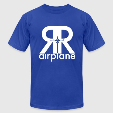 Rock and Roll Airplane - Adult - Men's Fine Jersey T-Shirt