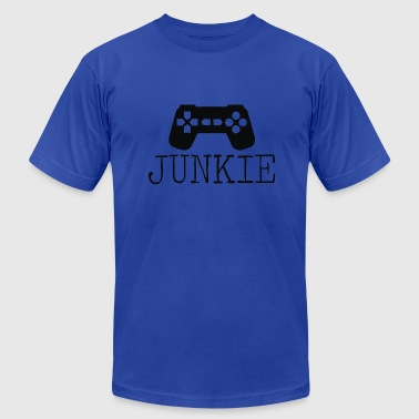Music Junkie Junkie Gamer - Men's Fine Jersey T-Shirt
