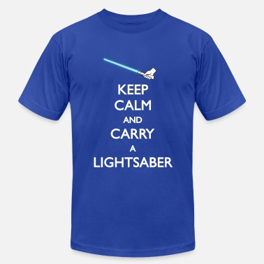 Carry On Films Carry Lightsaber Blue - Men's  Jersey T-Shirt