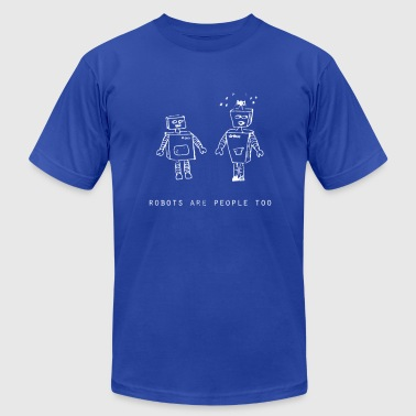 Robots Are People Too White | Robot Plunger - Men's Fine Jersey T-Shirt