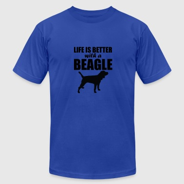 Life Is Better With A Beagle - Men's Fine Jersey T-Shirt