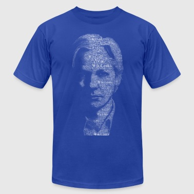 Wikileaks Typographical Assange  - Men's Fine Jersey T-Shirt
