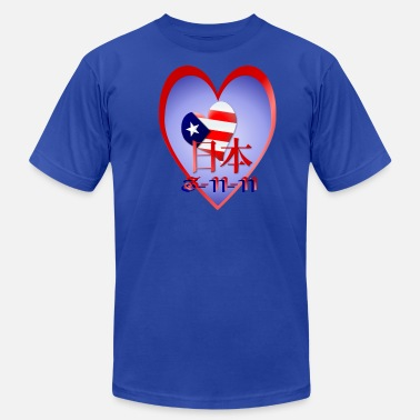 Support Japan American Love and Support For Japan (date) - Men's  Jersey T-Shirt