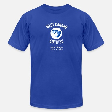 Blues West Canaan Coyotes: Dark - Men's Fine Jersey T-Shirt