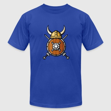 viking ax shield helmet horns cool - Men's Fine Jersey T-Shirt