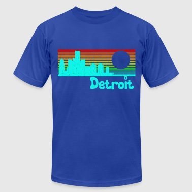 Vintage Old School 1980s Vintage Retro Detroit - Men's Fine Jersey T-Shirt
