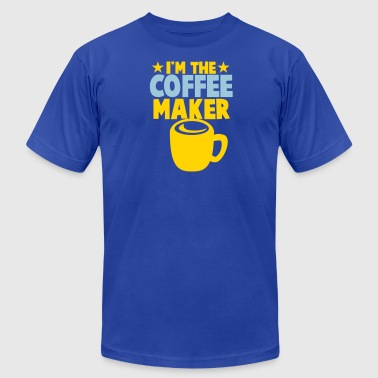 I'm the Coffee maker with mug and stars - Men's Fine Jersey T-Shirt
