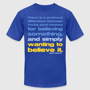 Sam Harris - Good Reasons For Believing - Men's Fine Jersey T-Shirt