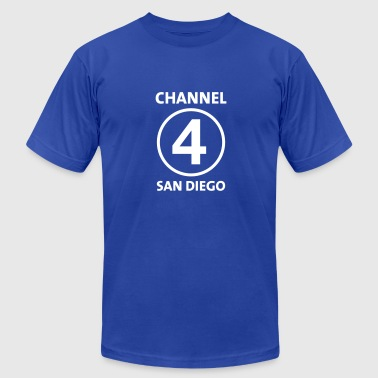 Channel 4 San Diego - Men's Fine Jersey T-Shirt