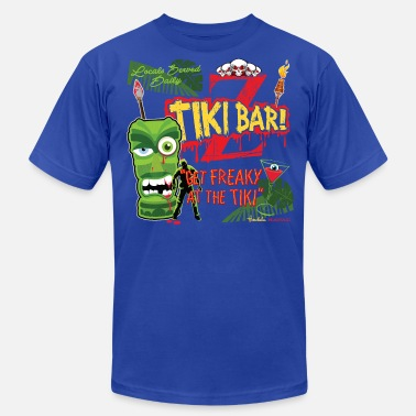 Tiki Bar Z Tiki Bar - Men's Fine Jersey T-Shirt